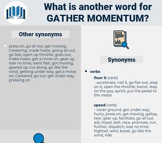 gather momentum, synonym gather momentum, another word for gather momentum, words like gather momentum, thesaurus gather momentum