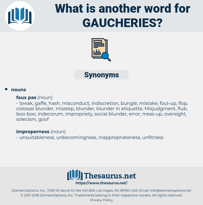 gaucheries, synonym gaucheries, another word for gaucheries, words like gaucheries, thesaurus gaucheries