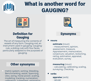 Gauging, synonym Gauging, another word for Gauging, words like Gauging, thesaurus Gauging