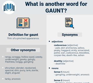 gaunt, synonym gaunt, another word for gaunt, words like gaunt, thesaurus gaunt