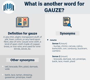 gauze, synonym gauze, another word for gauze, words like gauze, thesaurus gauze