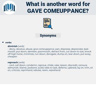 gave comeuppance, synonym gave comeuppance, another word for gave comeuppance, words like gave comeuppance, thesaurus gave comeuppance