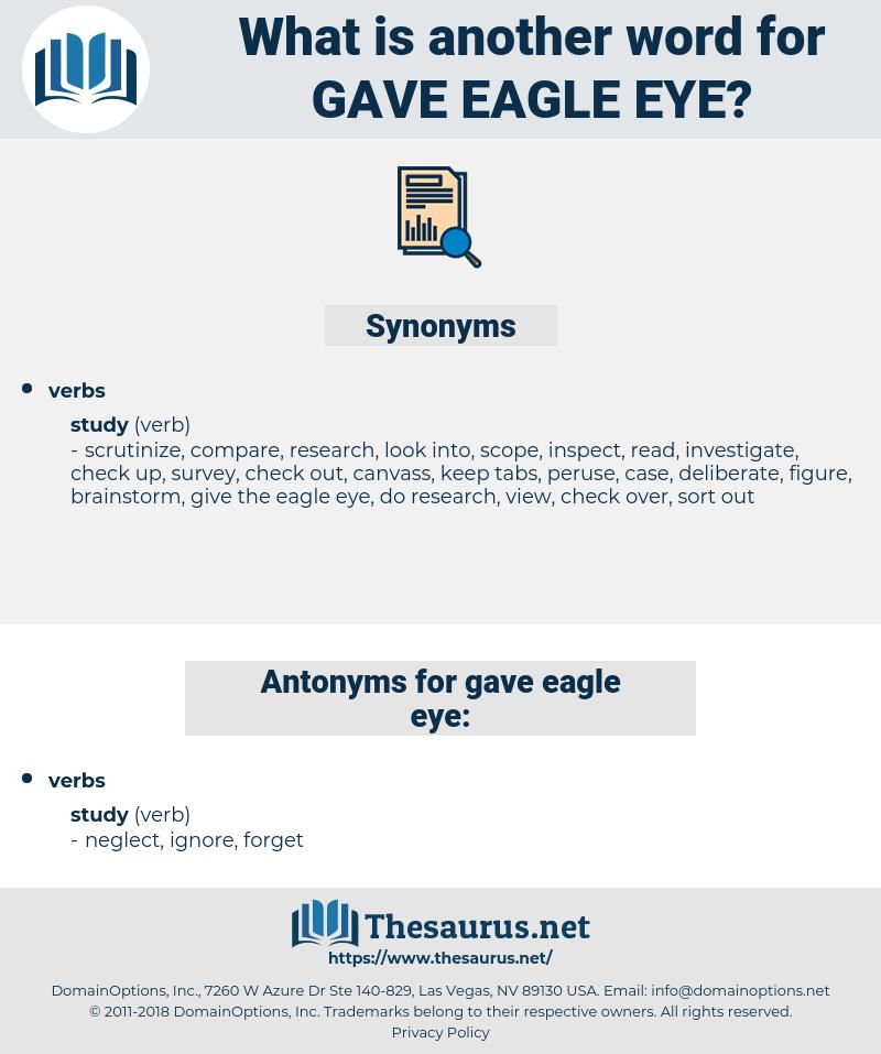 gave eagle eye, synonym gave eagle eye, another word for gave eagle eye, words like gave eagle eye, thesaurus gave eagle eye