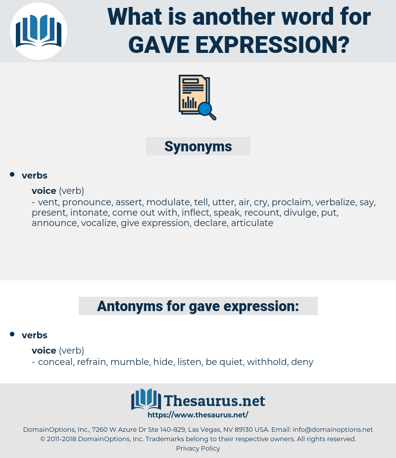 gave expression, synonym gave expression, another word for gave expression, words like gave expression, thesaurus gave expression
