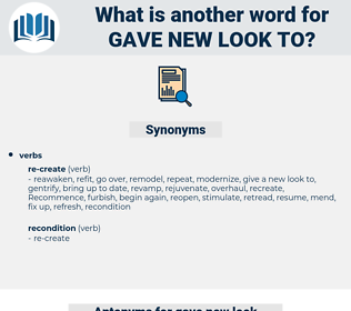 gave new look to, synonym gave new look to, another word for gave new look to, words like gave new look to, thesaurus gave new look to