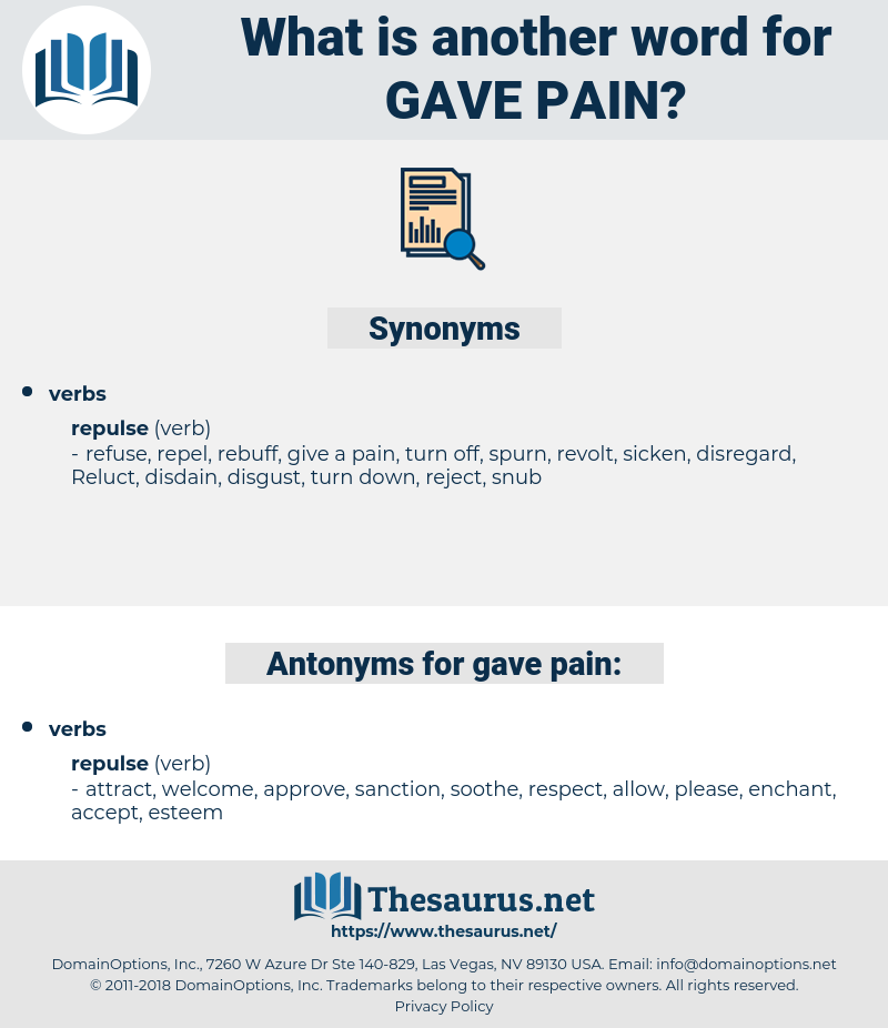 gave pain, synonym gave pain, another word for gave pain, words like gave pain, thesaurus gave pain