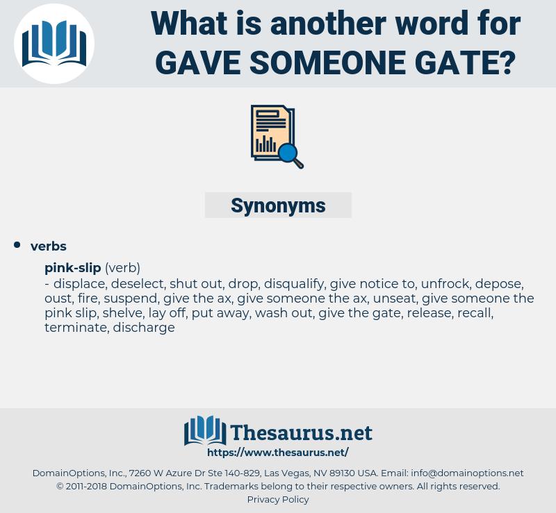 gave someone gate, synonym gave someone gate, another word for gave someone gate, words like gave someone gate, thesaurus gave someone gate