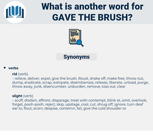 gave the brush, synonym gave the brush, another word for gave the brush, words like gave the brush, thesaurus gave the brush