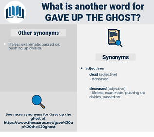 gave up the ghost, synonym gave up the ghost, another word for gave up the ghost, words like gave up the ghost, thesaurus gave up the ghost