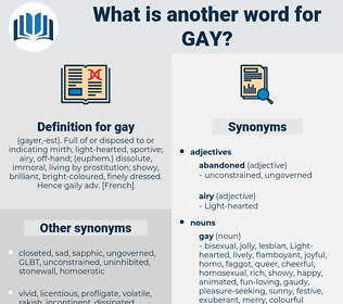 gay, synonym gay, another word for gay, words like gay, thesaurus gay