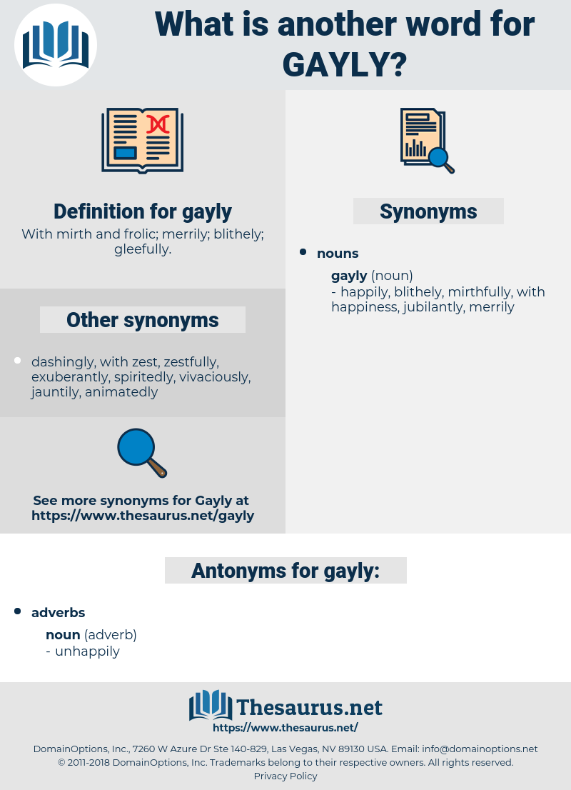 gayly, synonym gayly, another word for gayly, words like gayly, thesaurus gayly