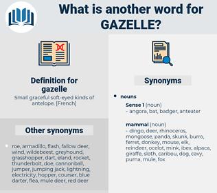 gazelle, synonym gazelle, another word for gazelle, words like gazelle, thesaurus gazelle