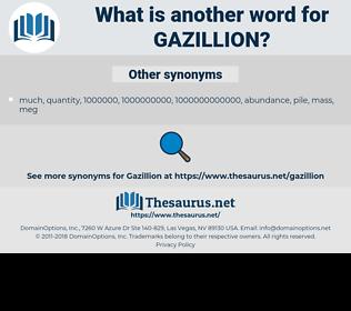 gazillion, synonym gazillion, another word for gazillion, words like gazillion, thesaurus gazillion