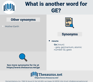 ge, synonym ge, another word for ge, words like ge, thesaurus ge