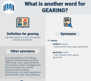 gearing, synonym gearing, another word for gearing, words like gearing, thesaurus gearing