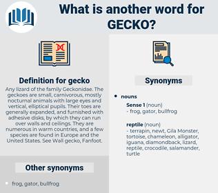 gecko, synonym gecko, another word for gecko, words like gecko, thesaurus gecko
