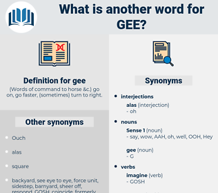 gee, synonym gee, another word for gee, words like gee, thesaurus gee