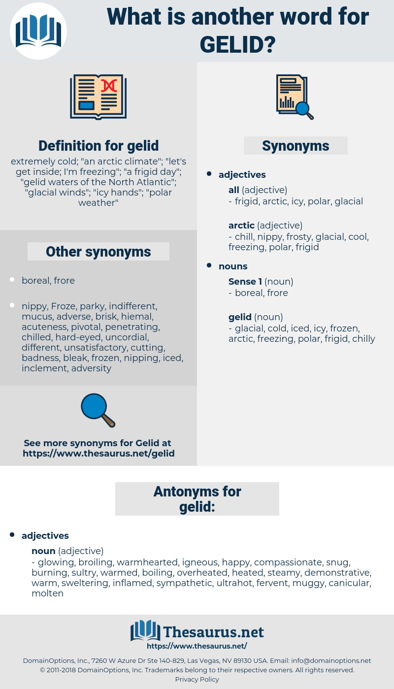 gelid, synonym gelid, another word for gelid, words like gelid, thesaurus gelid
