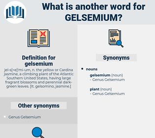 gelsemium, synonym gelsemium, another word for gelsemium, words like gelsemium, thesaurus gelsemium
