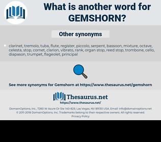 Gemshorn, synonym Gemshorn, another word for Gemshorn, words like Gemshorn, thesaurus Gemshorn