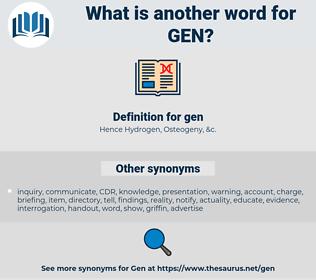 gen, synonym gen, another word for gen, words like gen, thesaurus gen