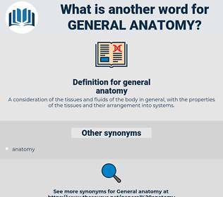 general anatomy, synonym general anatomy, another word for general anatomy, words like general anatomy, thesaurus general anatomy