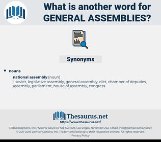 general assemblies, synonym general assemblies, another word for general assemblies, words like general assemblies, thesaurus general assemblies