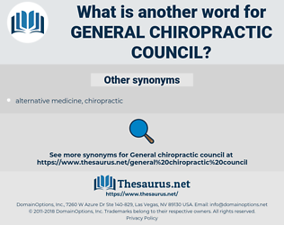 general chiropractic council, synonym general chiropractic council, another word for general chiropractic council, words like general chiropractic council, thesaurus general chiropractic council