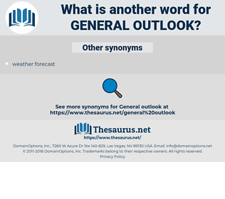 general outlook, synonym general outlook, another word for general outlook, words like general outlook, thesaurus general outlook