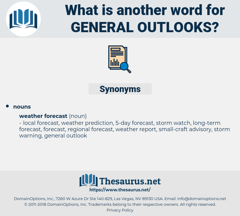 general outlooks, synonym general outlooks, another word for general outlooks, words like general outlooks, thesaurus general outlooks