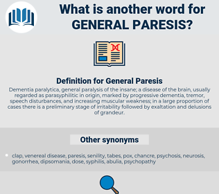 General Paresis, synonym General Paresis, another word for General Paresis, words like General Paresis, thesaurus General Paresis