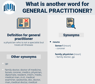 general practitioner, synonym general practitioner, another word for general practitioner, words like general practitioner, thesaurus general practitioner