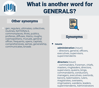 generals, synonym generals, another word for generals, words like generals, thesaurus generals