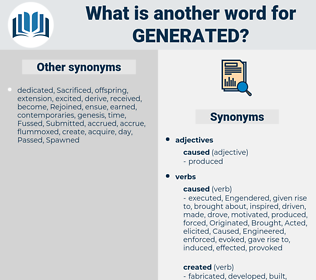 Generated, synonym Generated, another word for Generated, words like Generated, thesaurus Generated