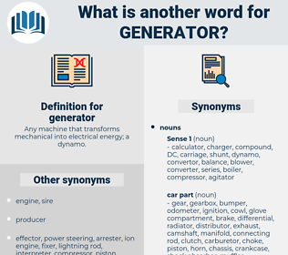 generator, synonym generator, another word for generator, words like generator, thesaurus generator