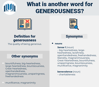 generousness, synonym generousness, another word for generousness, words like generousness, thesaurus generousness