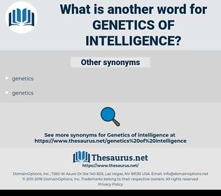 genetics of intelligence, synonym genetics of intelligence, another word for genetics of intelligence, words like genetics of intelligence, thesaurus genetics of intelligence