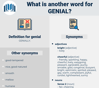 genial, synonym genial, another word for genial, words like genial, thesaurus genial