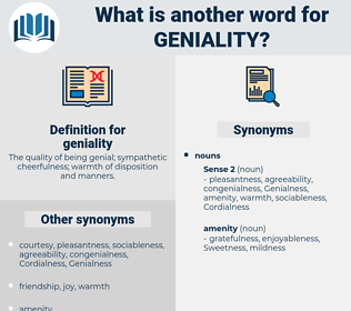geniality, synonym geniality, another word for geniality, words like geniality, thesaurus geniality