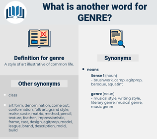 genre, synonym genre, another word for genre, words like genre, thesaurus genre