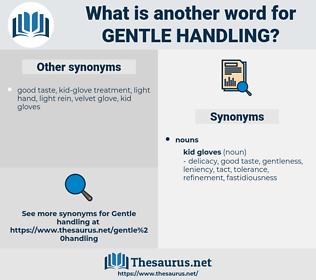 gentle handling, synonym gentle handling, another word for gentle handling, words like gentle handling, thesaurus gentle handling