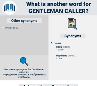 gentleman caller, synonym gentleman caller, another word for gentleman caller, words like gentleman caller, thesaurus gentleman caller