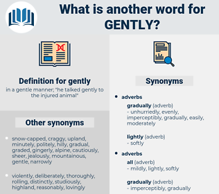 gently, synonym gently, another word for gently, words like gently, thesaurus gently