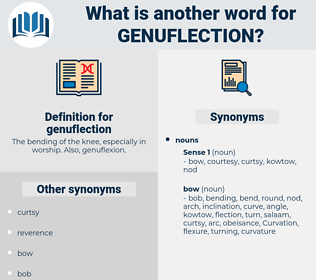 genuflection, synonym genuflection, another word for genuflection, words like genuflection, thesaurus genuflection