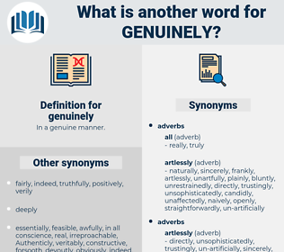 genuinely, synonym genuinely, another word for genuinely, words like genuinely, thesaurus genuinely