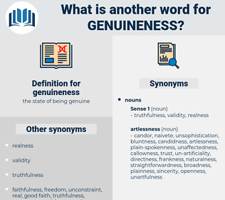genuineness, synonym genuineness, another word for genuineness, words like genuineness, thesaurus genuineness