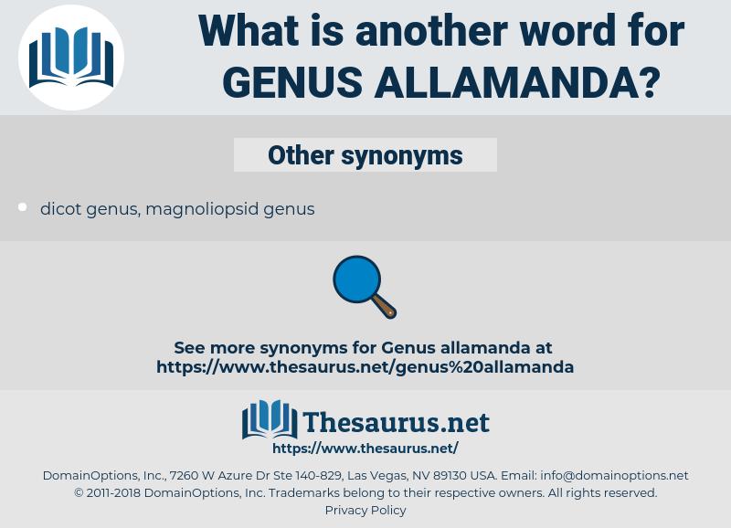 Genus Allamanda, synonym Genus Allamanda, another word for Genus Allamanda, words like Genus Allamanda, thesaurus Genus Allamanda