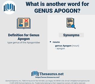 Genus Apogon, synonym Genus Apogon, another word for Genus Apogon, words like Genus Apogon, thesaurus Genus Apogon