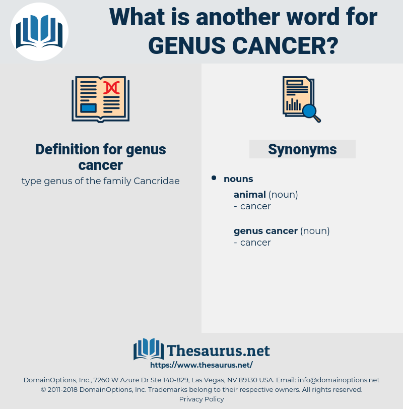 genus cancer, synonym genus cancer, another word for genus cancer, words like genus cancer, thesaurus genus cancer