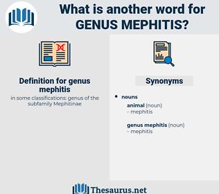 genus mephitis, synonym genus mephitis, another word for genus mephitis, words like genus mephitis, thesaurus genus mephitis
